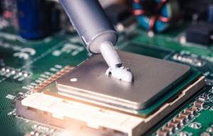 Résine de silicone pour protection circuit électronique