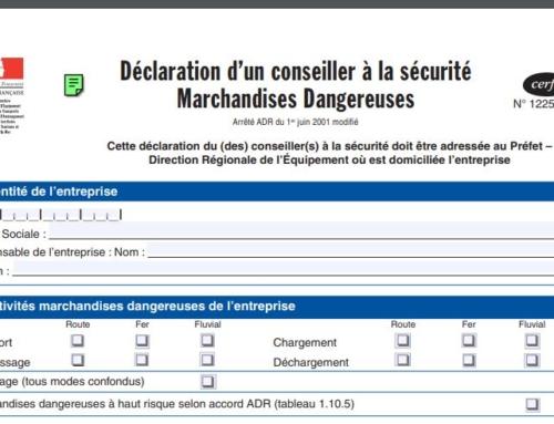 [Règlementation] Déclarer votre Conseiller à la Sécurité avant le 1er juillet 2021